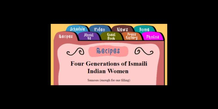 Samosa recipe from 'Four Generations of Ismaili Women' as featured on Loving Spoonfuls - The Grandmother Cooking Show, Winnipeg