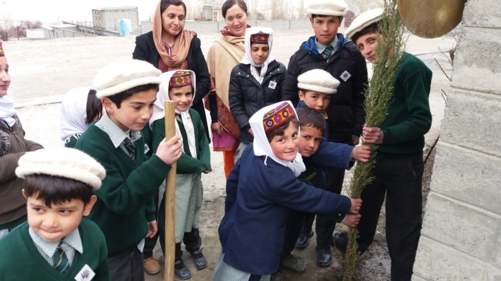 Hunza Serena Inn celebrates Tree plantation day at Al-Amyn Model School, Gulmit and Aga Khan Diamond Jubilee School Passu Gojal Hunza
