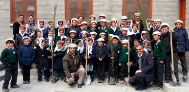 Hunza Serena Inn celebrates Tree plantation day at Al-Amyn Model School, Gulmit and Aga Khan Diamond Jubilee School Passu Gojal Hunza
