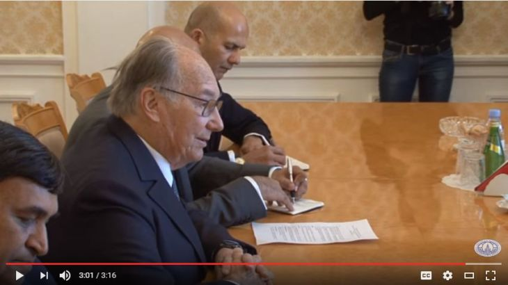 Video: Negotiations between Sergey Lavrov and Karim Aga Khan IV