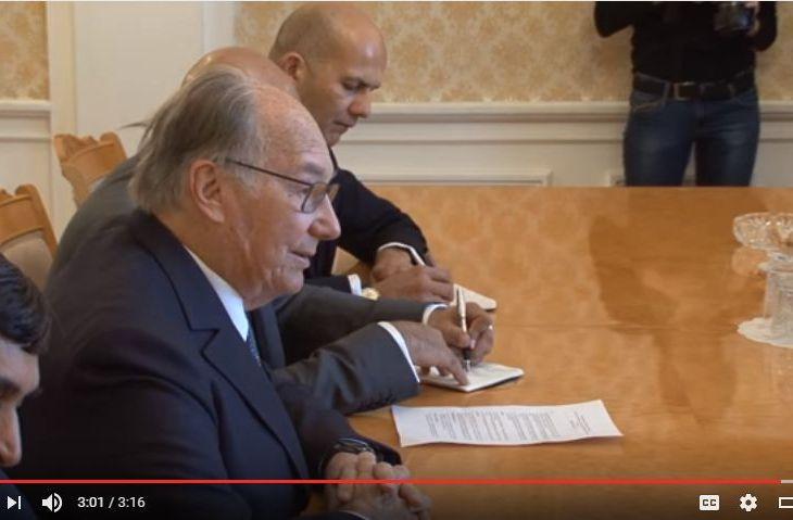 Video: Negotiations between Sergey Lavrov and Karim Aga Khan IV