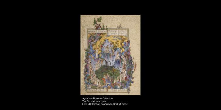 The zenith of the art of Iranian painting: Court of Kayumars