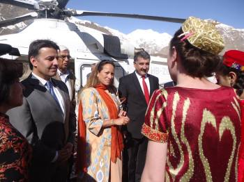 Princess Zahra Aga Khan on a three day visit to Tajikistan
