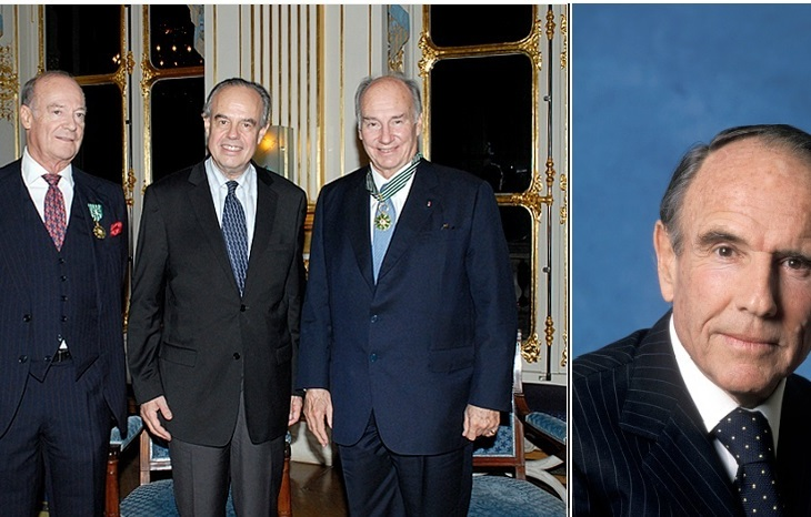 French Minister of Culture pays tribute to Prince Sadruddin as he decorates His Highness Prince Karim Aga Khan and Prince Amyn with honors