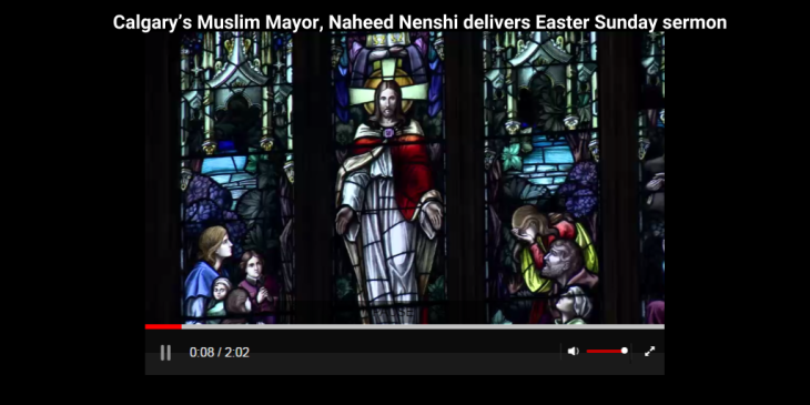 Calgary Mayor Nenshi delivers Easter sermon