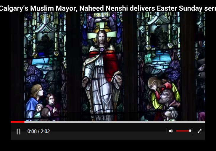 Calgary Mayor Nenshi delivers Easter sermon