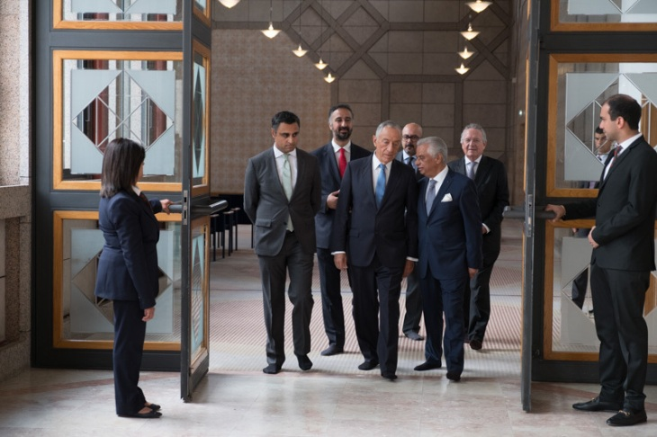 President of the Portuguese Republic, Marcelo Rebelo de Sousa visits the Ismaili Centre Lisbon. (Image credit: Presidência da República Portuguesa)
