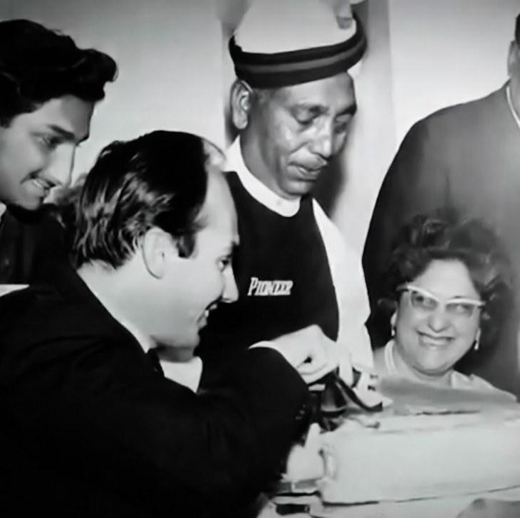 Historical Photograph: Prince Karim Aga Khan chats with Zubeida and Habib Ibrahim Rahimtoola