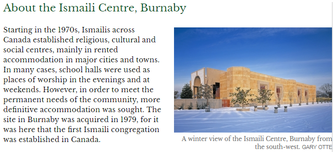 About the Ismaili Centre, Burnaby