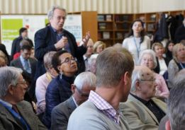 Amal Ewida Kenawy, is the lady with glasses seated on the left of George Gordon-Lennox and in front of the gentleman standing up asking a question at the book launch of Prince Sadruddin Aga Khan: Humanitarian and Visionary at the UN Library Geneva (image credit: Anvar Nanji)