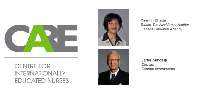 Yasmin Bhatia, Jaffer Sunderji, appointed to the Board of CARE Centre for Internationally Educated Nurses