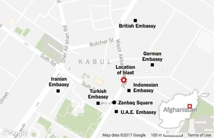 Scores killed, Canadian embassy, Roshan Telecommunication offices damaged in Kabul bombing
