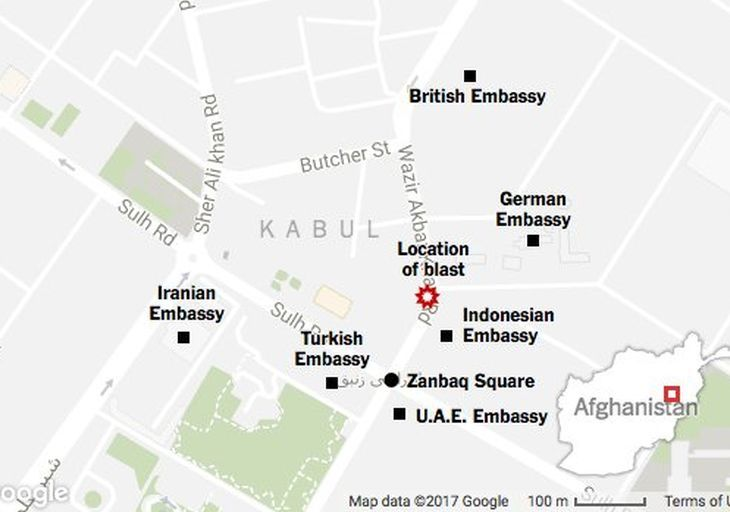 Scores killed, Canadian embassy, Roshan Telecommunication offices damaged in Kabul bombing