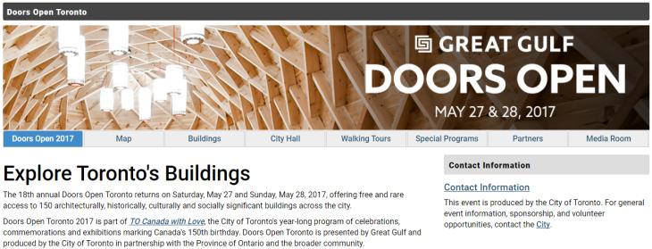 Doors Open Toronto