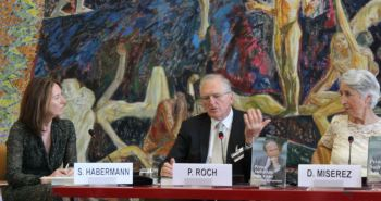 Dr. Philippe Roch with fellow panelists during the panel discussions at the book launch of Prince Sadruddin Aga Khan: Humanitarian and Visionary (image credit: UN Library)