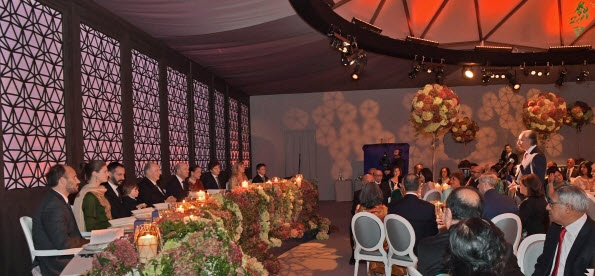 LIF Chairman Mahmoud Eboo wishes Mawlana Hazar Imam a happy 80th birthday on behalf of the global Jamat. Photo: The Ismaili/Zahur Ramji