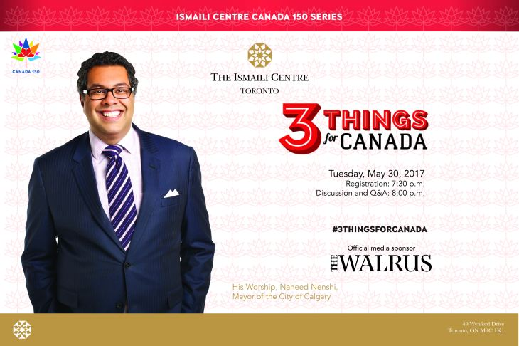 Watch Calgary Mayor Naheed Nenshi Live Online: Three things for Canada
