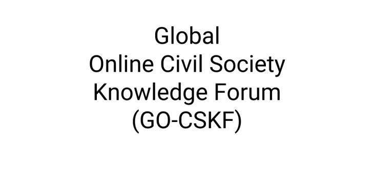 Launch of a new Global Online Civil Society Knowledge Forum (GO-CSKF)