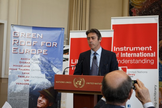 Francesco Pisano, Head of the UN Library commencing the event. (image credit: UN Library)