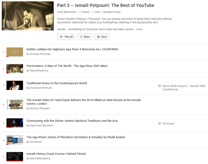 Part 3 Release: Ismaili Potpourri – Most Interesting and Credible Videos in Ismaili Studies