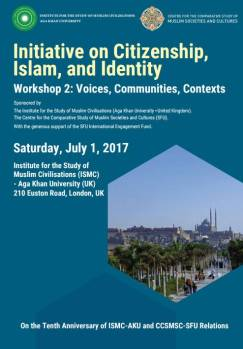 AKU-ISMC Event (In-person): Initiative on Citizenship, Islam, and Identity