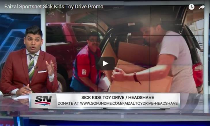 Faizal Khamisa: 2nd annual Sick Kids Toy Drive / Head Shave