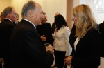 His Highness the Aga Khan in conversation with Honourable Mélanie Joly, Minister of Canadian Heritage (Image credit: GCP)