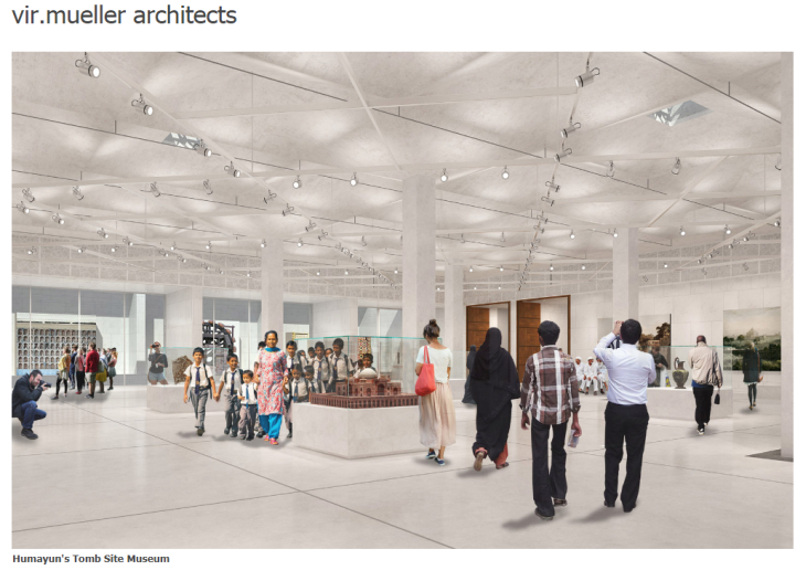 Architectural renderings of Humayun's Tomb Site Museum