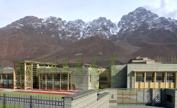 Rendering of the New Khorog Jamatkhana and Centre