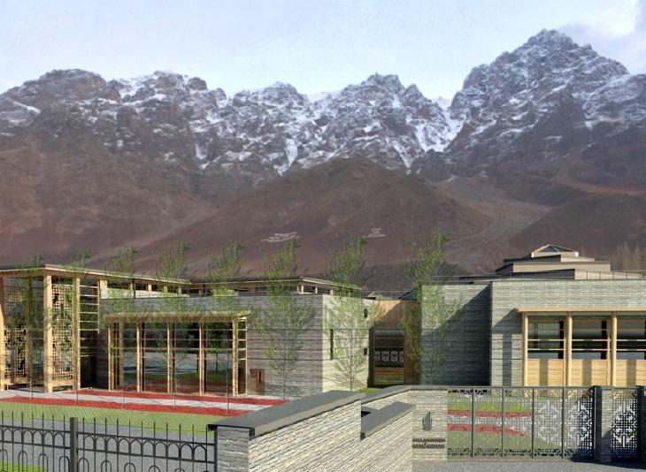 Rendering of the New Khorog Jamatkhana and Centre