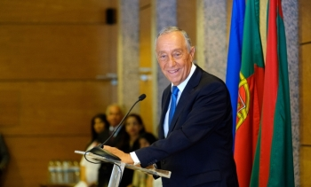His Excellency Marcelo Rebelo de Sousa, President of the Portuguese Republic, thanks the Ismaili community for their contributions to the nation. (Image credit: Luis Filipe Catarino / Ismaili Council for Portugal via The Ismaili)