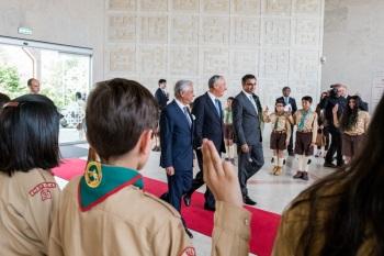 President Marcelo at the Ismaili Centre, Lisbon. (Image credit: Presidência da República Portuguesa)