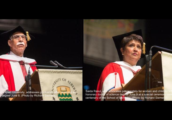 University of Alberta awards honorary doctor of science degrees to Firoz Rasul and Dr Saida Rasul