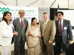From right, Abdul Aziz Rupani, Judge Ed Emmett, Sher Banu Rupani and Nasruddin Rupani and his wife.