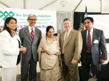 From right, Abdul Aziz Rupani, Judge Ed Emmett, Sher Banu Rupani and Nasruddin Rupani and his wife.