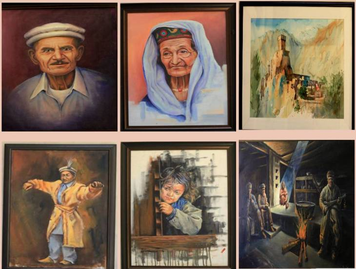 Artist Shahid Ali Qasmi (Hunza)