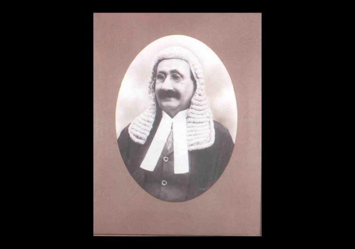 Portrait of Sir Ibrahim Rahimtoola in Indian Parliament