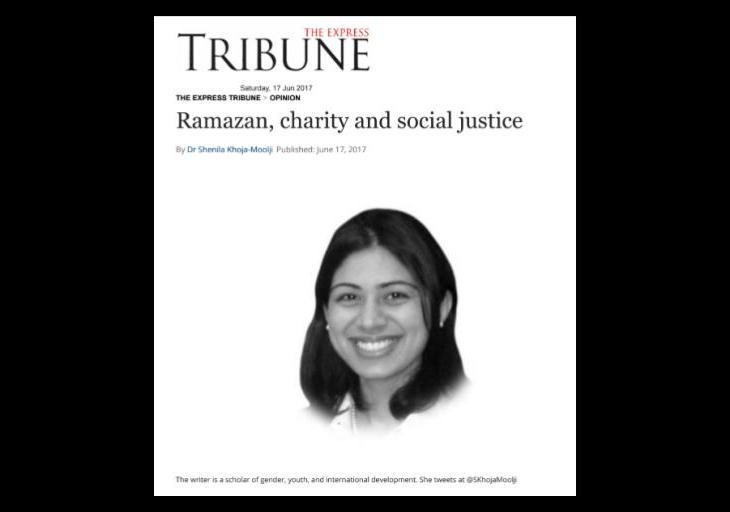 Dr Shenila Khoja-Moolji: Ramazan, charity and social justice