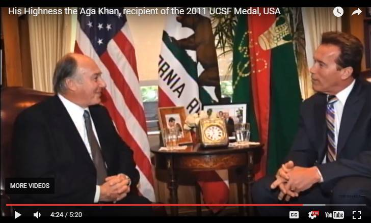 His Highness the Aga Khan, recipient of the 2011 UCSF Medal, USA