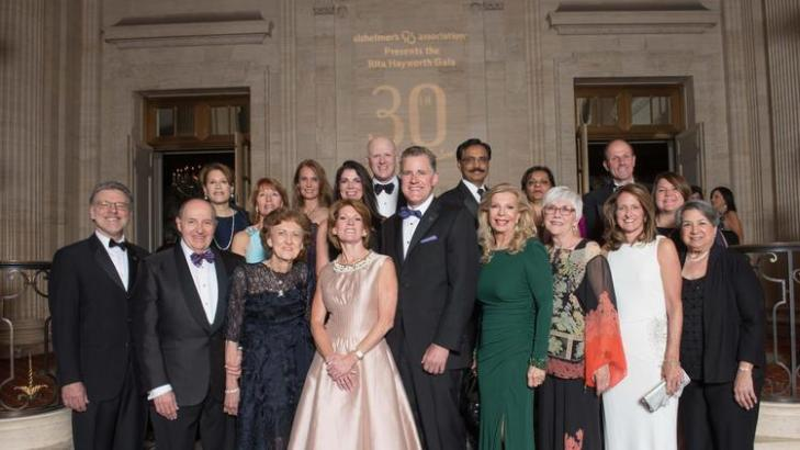 Members of the Steering Committee, Chicago Rita Hayworth Gala, Alzheimer's Association with Princess Yasmin Aga Khan (image credit: Bill Richert and Shannon via Chicago Tribune)