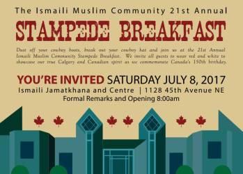 21st Annual Ismaili Muslim Stampede Breakfast in Calgary