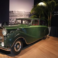 Aga Khan III's Rolls-Royce Phantom IV showcased at the Rolls-Royce London exhibition