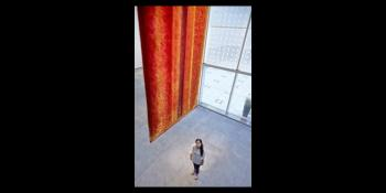 Made with million gold-plated pins, last chance to see Pakistani artist Aisha Khalid's tapestry at the Aga Khan Museum, Toronto