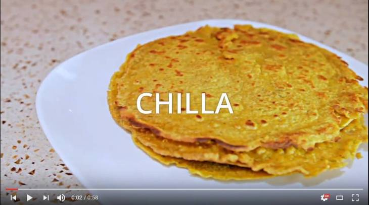 Chilla -- Indian, salty/spicy Pancake