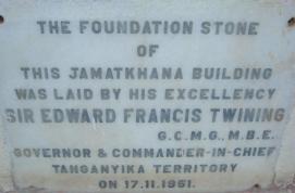 Dodoma Jamatkhana Foundation Stone