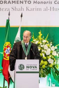 His Highness the Aga Khan, Honorary Doctorate from Universidade NOVA de Lisboa, Lisbon, Portugal, July 20, 2017
