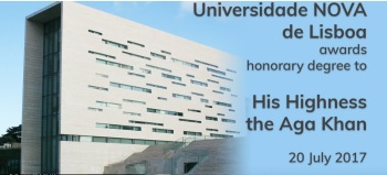 Event Webcast - Universidade NOVA de Lisboa to award honorary degree to His Highness Prince Karim Aga Khan