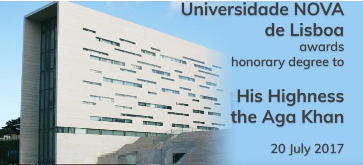 Event Webcast - Universidade NOVA de Lisboa to award honorary degree to His Highness Prince Karim Aga Khan