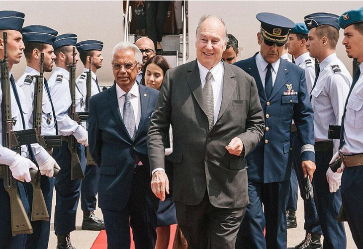 His Highness Prince Karim Aga Khan arrived in Lisbon today and was welcomed by an honour guard. (image credit: AKDN/ Antonio Pedrosa)
