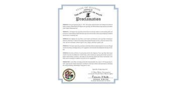 """State of Illinois (USA)'s Proclamation """"Diamond Jubilee Year"""""""